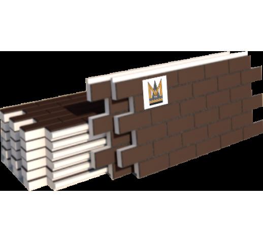 "Фасадные термопанели Клинкер ""кирпич"", коричневый (м2)"