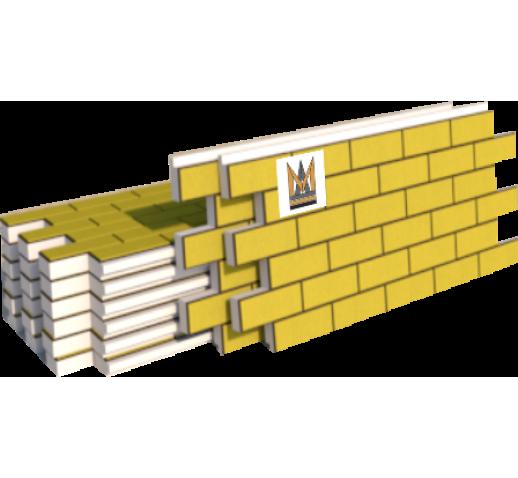 """Фасадные термопанели Клинкер """"кирпич"""", желтый (м2)"""