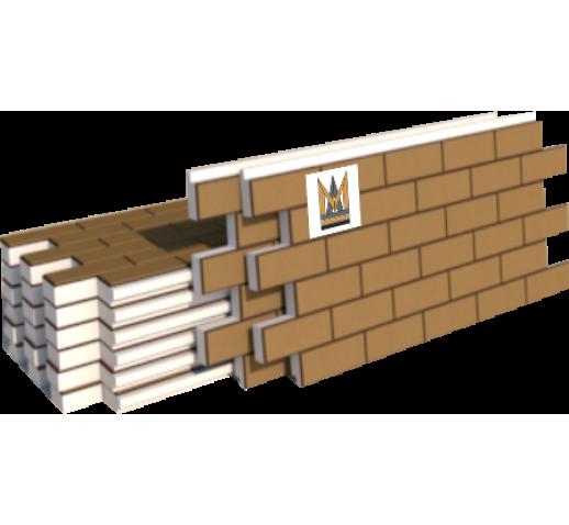 """Фасадные термопанели Клинкер """"кирпич"""", светло-коричневый (шт)"""