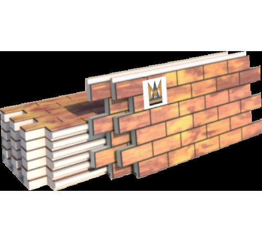 "Фасадные термопанели Клинкер ""кирпич"", желто-коричневый (шт)"