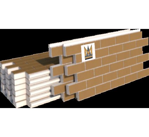 """Фасадные термопанели Клинкер """"кирпич"""", светло-коричневый с белым швом (шт)"""