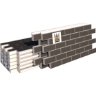 "Фасадные термопанели Клинкер ""кирпич"", темно-серый с белым швом (шт)"