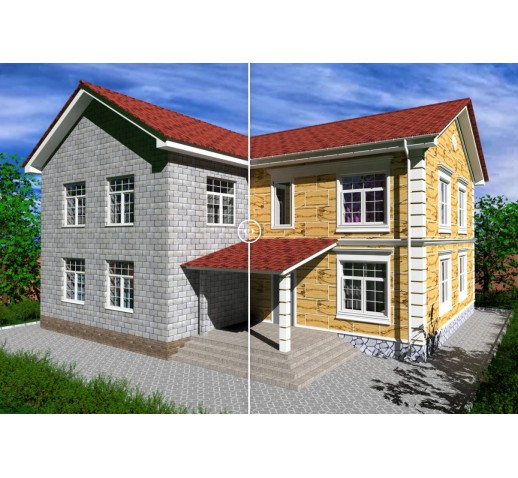 "Фасадные термопанели Клинкер ""кирпич"", серый (шт)"