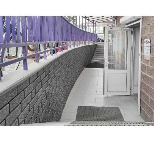 Фасадная панель с двойным замком, Кирпич Графитовый, 3025*230 мм (шт)
