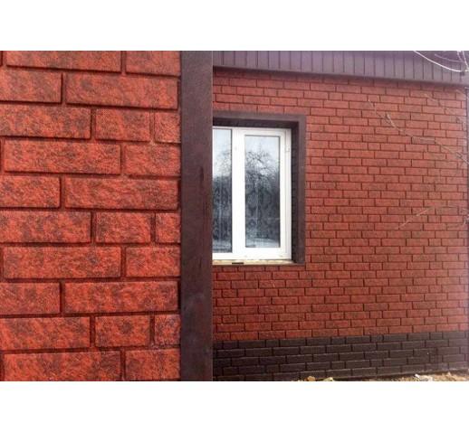 Фасадная панель с двойным замком, Кирпич Красный, 3025*230 мм (шт)
