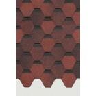 Гибкая черепица (Коллекция ШЕСТИГРАННИК) Красный (м2)