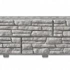 Фасадная панель с двойным замком, Сланец светло-серый, 2000*225 мм (шт)