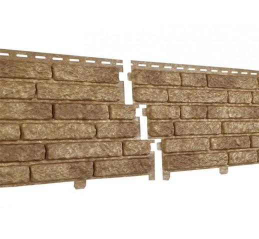 Фасадные панели Стоун-хаус Кварцит, Темно-бежевый (шт)
