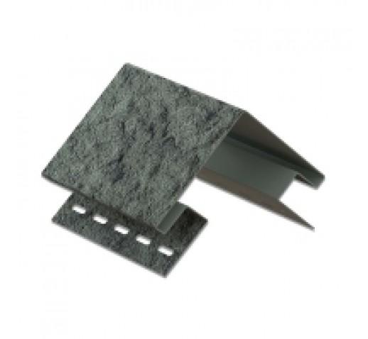 Фасадная панель с двойным замком, Камень Изумрудный, 3025*225 мм