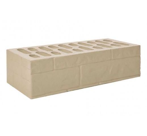 Одинарный рифлёный «ломаный камень» «крема», 250х120х65, (штука)