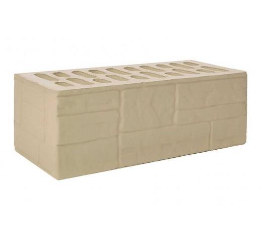 Утолщённый рифлёный «ломанный камень» «крема», 250х120х88, (штука)