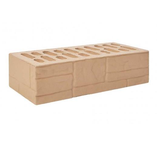 Одинарный рифлёный «ломаный камень» «латте», 250х120х65, (штука)
