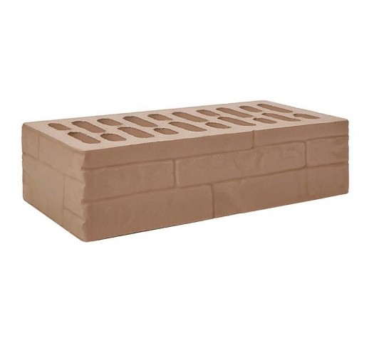Одинарный рифлёный «ломаный камень» «мокко», 250х120х65, (штука)